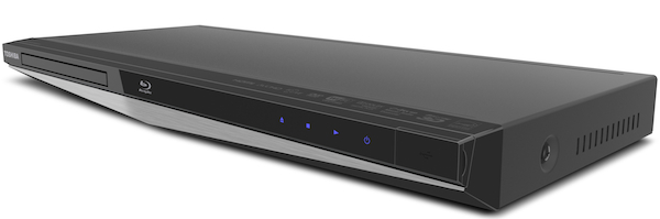 The Toshiba BDX5300 Blu-ray Player Side-Angle Front View