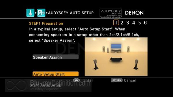 Denon AudysseyTM Setup Screen