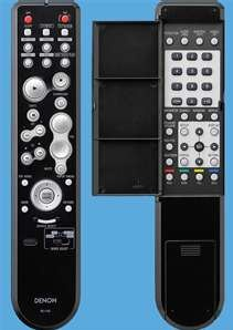 Denon S-5BD Remote  Control: Front and Rear