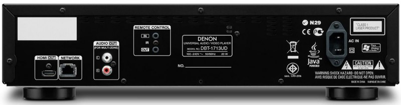 Denon DBT-1713UD Rear Panel View