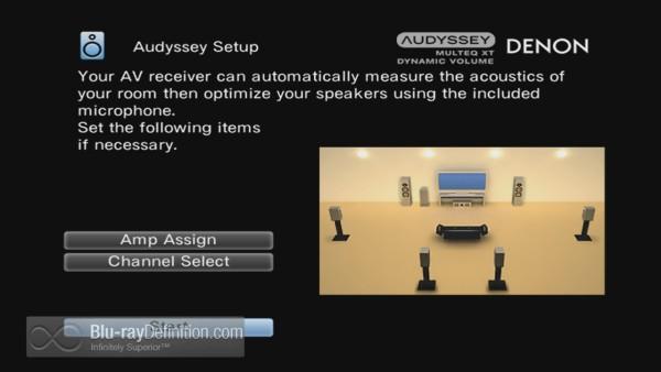 Audyssey Set Up Screen