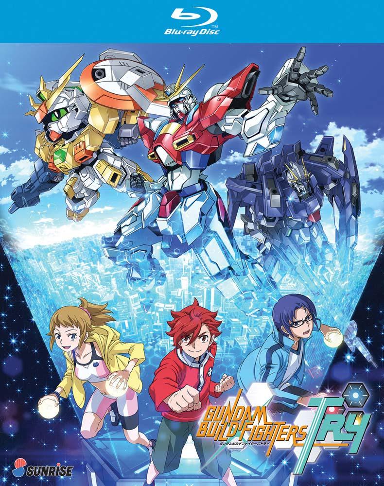 Gundam Build FIghters Try RightStuf Blu-ray Packshot