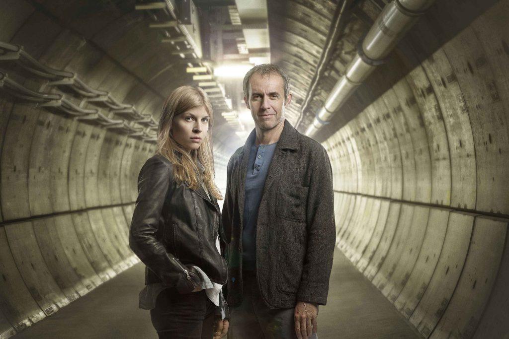 Clémence Poésy and Stephen Dillane in The Tunnel: Season 1 Publicity Still