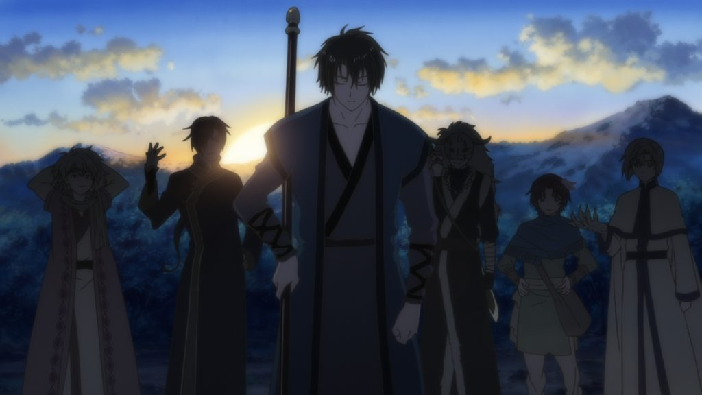 San Huk, the four dragons, and Yun of Yona of the Dawn.